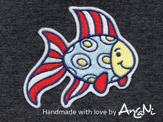 Aufnäher Fisch Frieda ♥ Applikation Fisch, maritim von AnCaNi auf DaWanda.com