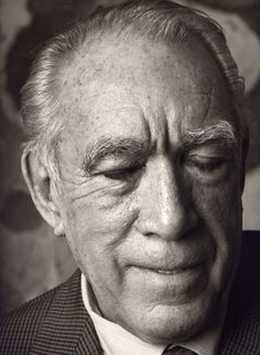 The Mighty Anthony Quinn.I will never forget running into him in a drug store in Rhode Island on snowy and wintery evening....he just smiled at me..