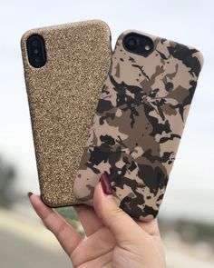 Combos ✨ Gold Glam & Camo Case for iPhone X, iPhone 8 Plus & iPhone from Elemental Cases