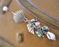 Bauchnabel Ring Schmuck. Spiral Shell Bauchnabel von AzeetaDesigns