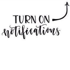 Don't forget to turn on your notifications. You never know, it could change your life #turnon #notifications #instagram #socialmedia #marketing #follow #like #comment #share #doitnowdoitgood #pushthisbuttonjustlikeyoushould #education #course #careergoals #training