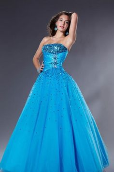 Ball Gown Strapless Floor Length Quinceanera Dress Sash/Ribbon With Beading