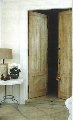 reclaimed doors/interior single panel for bedrooms Pine Doors, Old Doors, Wooden Doors, Windows And Doors, Barn Doors, Reclaimed Doors, Antique Doors, Vintage Doors, French Interior