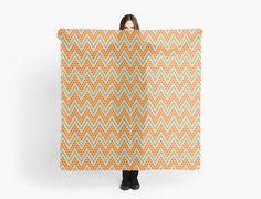 Geometric chevron pattern by LunaPrincino #lunaprincino #redbubble #print #prints #art #design #designer #graphic #clothes #for #women #apparel #shopping #scarf #scarves #neckerchief #accessories #spring #2017 #fashion #style #pattern #chevron #zigzag #geometric #geometry #ornament #lines #dots #trendy #beige #orange #teal #turquoise