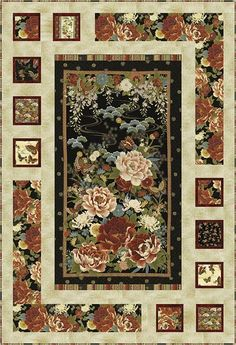 Resplendent Sew A Block Quilt Ideas. Magnificent Sew A Block Quilt Ideas. Fabric Panel Quilts, Strip Quilts, Fabric Panels, Japanese Quilt Patterns, Quilt Block Patterns, Quilt Blocks, Quilting Projects, Quilting Designs, Quilting Ideas