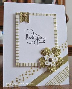 Such a pretty and sweet (and clever) card made by Carol Longacre on her blog Our Little Inspirations. I just discovered her through a card of hers made from the new sketch posted Operation Write Home -- then stayed to look at some others of her wonderful cards.