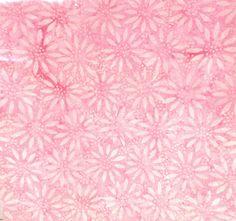 Pink Batik Fabric  Pink Daisies   Quality by SewMeNowFabrics