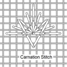 I ❤ embroidery . . . Carnation stitch,  made easier! Stitch of the Month March 2011 ~By Needlelace