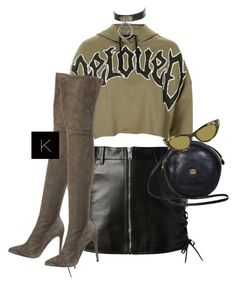 """""""Untitled #3662"""" by kimberlythestylist ❤ liked on Polyvore featuring Topshop, Yves Saint Laurent, Sergio Rossi and Gucci"""