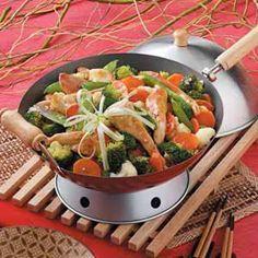 VEGETABLE+CHICKEN+STIR-FRY