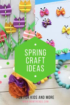 A colorful array of six crafts ideas for kids that involve rainbows and flowers and pretty projects to welcome spring. Diy And Crafts Sewing, Easy Diy Crafts, Diy Crafts Videos, Diy Crafts To Sell, Diy Projects For Kids, Crafts For Kids To Make, Diy Crafts For Kids, Craft Projects, Seasons Activities