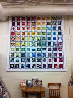 That sashing! Sampler Quilts, Scrappy Quilts, Elizabeth Hartman Quilts, Dear Jane Quilt, Quilting Projects, Quilting Ideas, Modern Quilt Blocks, Bright Quilts, Rainbow Quilt