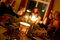 Candlelight Christmas Dinner with your family and friends.