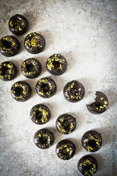 Mini Baked Chocolate Donuts