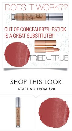 """Double Duty Make-up."" by christinadrussell ❤ liked on Polyvore featuring beauty, Urban Decay, NARS Cosmetics, Charlotte Tilbury, Beauty and twoways"