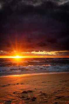 ~~Levi Beach Sunset ~ Warnambool, Victoria, Australia by atoulmin~~