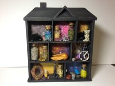 Wizard Shadow Box via Crafster  (I totally have one of these doll house boxes from when I was a kid. My dad made it -- my dad has no idea how hip he was!)