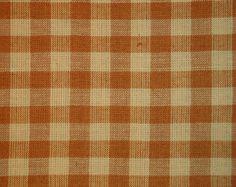 Homespun Material | Cotton Material |  Quilting Material | Check Material | Large Check Light Brown Material | Craft Material