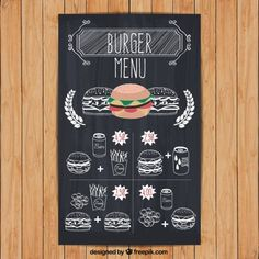 burger menu in hand drawn style Free Vector