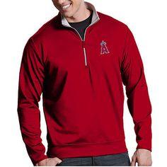 Antigua Men's Los Angeles Angels Leader Red Quarter-Zip Pullover