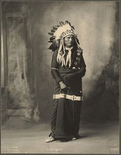 Eagle Bear, Sioux photographed at the Trans-Mississippi and International Exposition by F.A. Rinehart (1898, Omaha, Neb.).
