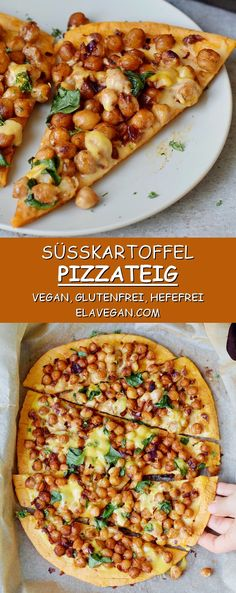 Sweet potato pizza crust recipe with only 5 ingredients. This is a healthy pizza… Sweet potato pizza crust recipe with only 5 ingredients. This is a healthy pizza crust which is gluten-free, vegan (dairy-free, egg-free), yeast-free, quick and easy to make Quick Dinner Recipes, Whole Food Recipes, Healthy Recipes, Vegan Sweet Potato Recipes, White Sweet Potato Recipe, Supper Recipes, Cooking Recipes, Healthy Pizza Dough, Quinoa Flour Pizza Crust Recipe