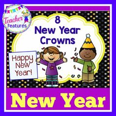 This New Years Crown download is filled with a collection of 8 crowns that your students will love decorating and coloring!