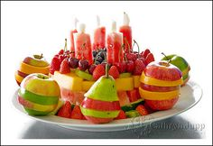 Especially for little ones ... birthday fruit instead of cake