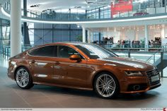 Audi A7 special ordered with Ipanema Brown paint by Audi Exclusive. Spotted at the Audi Forum Neckarsulm.