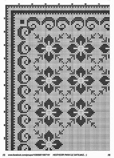 Hardanger Embroidery, Embroidery Stitches, Embroidery Patterns, Types Of Embroidery, Cross Stitch Borders, Modern Cross Stitch, Cross Stitch Patterns, Crochet Diagram, Filet Crochet