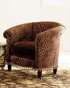 Cheetah Tub Chair -  Animal Prints -  Neiman Marcus
