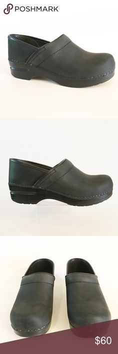 Dansko Black Clog Shoes Womens Size 38 Great pair of Black Dansko size 38 in very good condition. Have a small scuff inside left shoe (pictured). The soles are in excellent condition, tons of life left in these awesome shoes. 61010170 Dansko Shoes Mules & Clogs