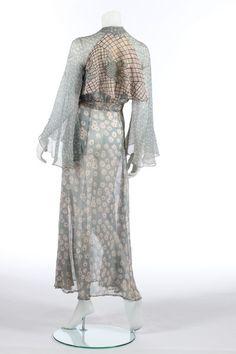 An Ossie Clark/Celia Birtwell printed chiffon 'Milky Way' wrap-over dress, 1970