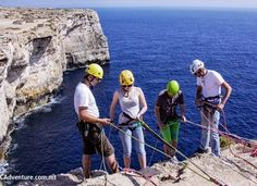 Abseiling (rappelling) in Malta Adventures in Malta by MC Adventure  mcadventure.com