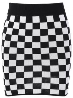 $14.20 | Checked Mini Knit Skirt | Psychedelic Monk