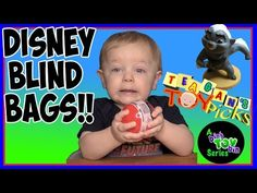 Super Excited Baby Opens Blind Bags! Lion Guard, Mickey & More | Bins Toy Bin - YouTube