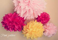 ON SALE  40 Tissue Pom Pomswedding reception by PomGoddess on Etsy, $75.00