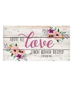 Love this 'Love' Wall Art on #zulily! #zulilyfinds
