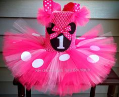 Minnie mouse tutu dress Pink Minnie mouse by MyDreamGirlsTutus