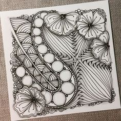 Rebecca-secretbox — Zentangle 041516. #zentangle #zendoodle #doodle...