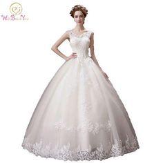 Cheap Vestido Noiva Longo High Quality Wedding Dresses Lace  Off the Shoulder Boat Neckline Floor Length Bridal Gown Stock