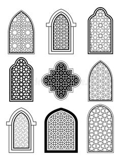 Discover Arabic or Islamic traditional architecture, set of window vectors stock and millions of other photos, illustrations and vectors Free Stock Photos collection of Shutterstock. They added thousands of new high-quality images every day. Mosque Architecture, Cultural Architecture, Futuristic Architecture, Architecture Plan, Architecture Sketches, Islamic Art Pattern, Pattern Art, Motifs Islamiques, Prayer Room