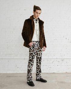 New York Studio, Studio 54, Men Fashion Show, Mens Fashion, Justin Campbell, William Franklyn Miller, Polo Neck, Skin Tight, Harem Pants