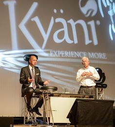Interpreting Dr. Thomas Burke advises on the use of Kyani products at the International Convention in Vienna #businessopportunity