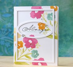 Always Thinking Of You Card by Laura Bassen for Papertrey Ink (March 2015)