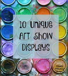 10 Unique Art Show Displays - Carmen Whitehead Designs Craft Show Displays, Display Ideas, Booth Ideas, Booth Displays, Art Studio Organization, Collaborative Art, First Art, Art Classroom, Future Classroom