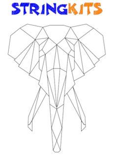 elephant-template-outline
