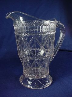 """EAPG RETICULATED CORD PITCHER 9-1/4"""" H"""
