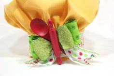 Yellow Chefs hat tree topper wearable chefs hat Top by partydreams, $45.00