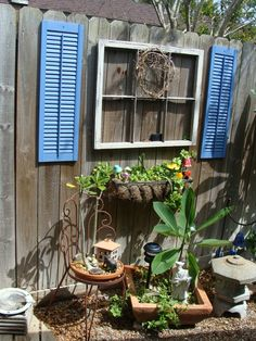 Backyard Fence Decorating Ideas tin can planter pot garden fence decor 20 fence decoration makeover diy ideas Fence Decorations Fence Decor For The Home